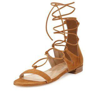 Stuart Weitzman Gladiator Sandals 6 Brown Suede